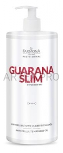 FARMONA PRO GUARANA SLIM ANTYCELLULITOWY OLEJEK DO MASAŻU 950ML